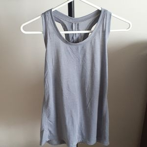 Old Navy Active Loose Grey Tie-Back Tank - Large
